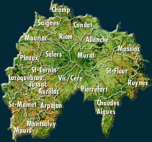 Carte du Cantal
