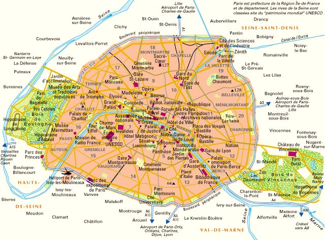 Carte de Paris