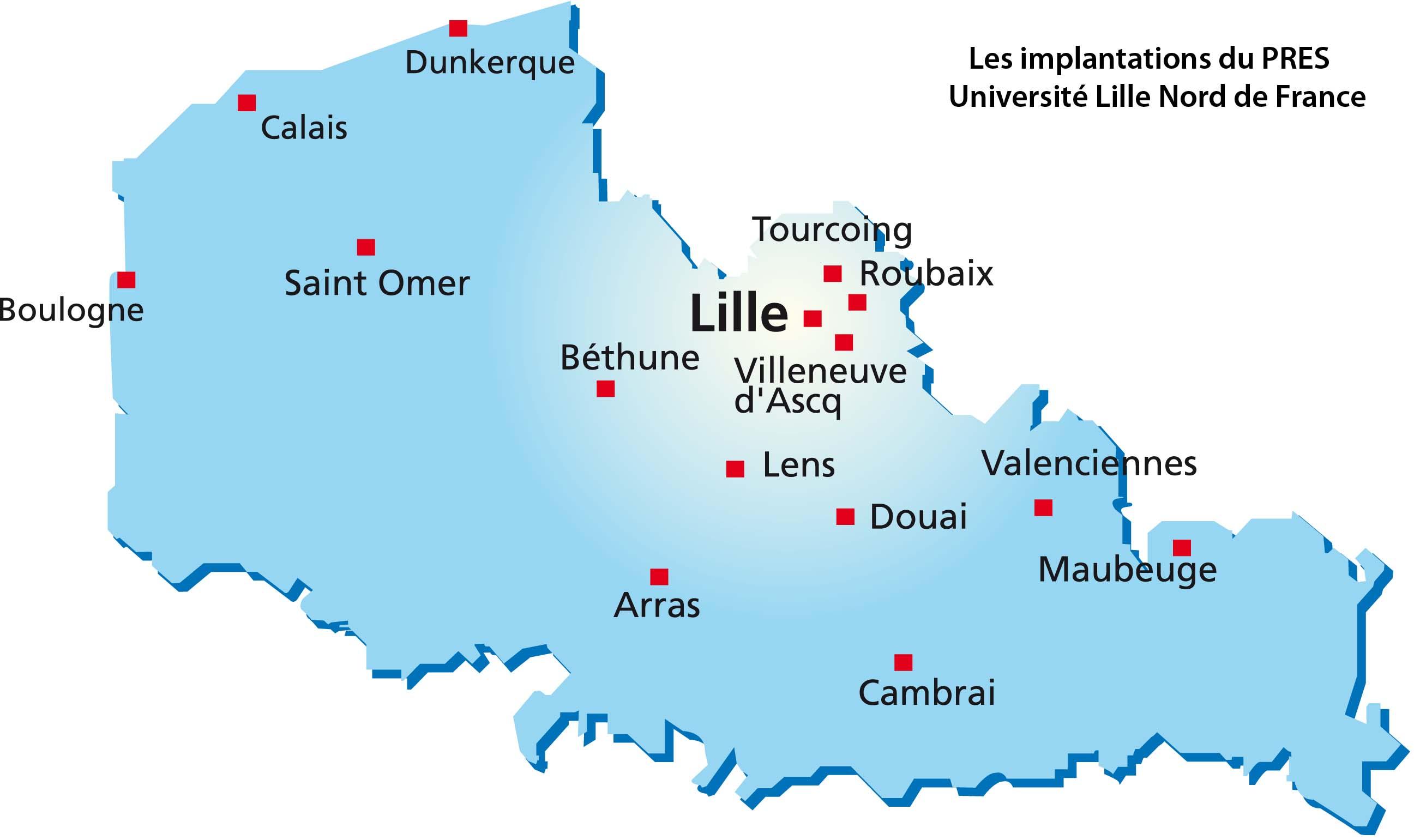 carte france nord: