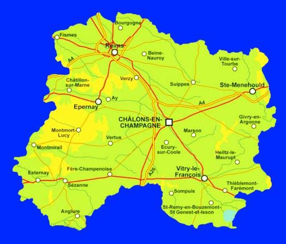 Carte de la Marne