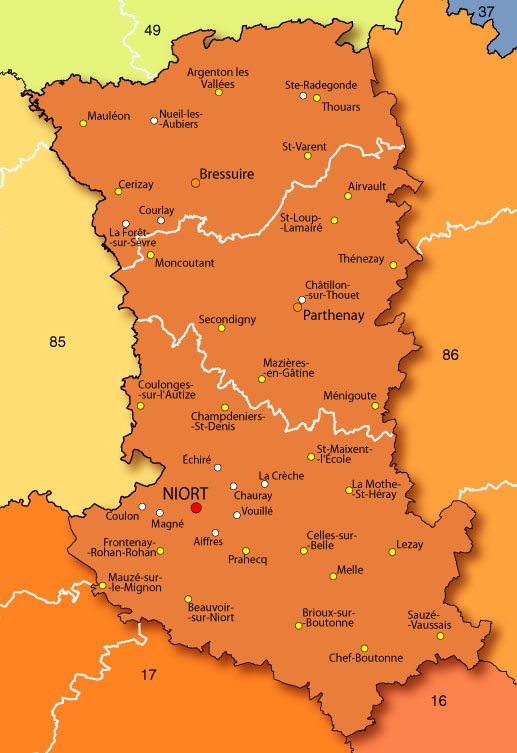 Carte du Deux-Sèvres