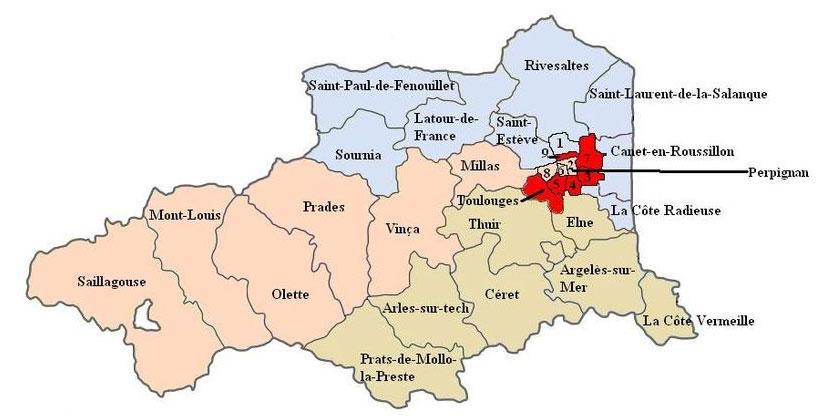 Carte des Pyrénées-Orientales