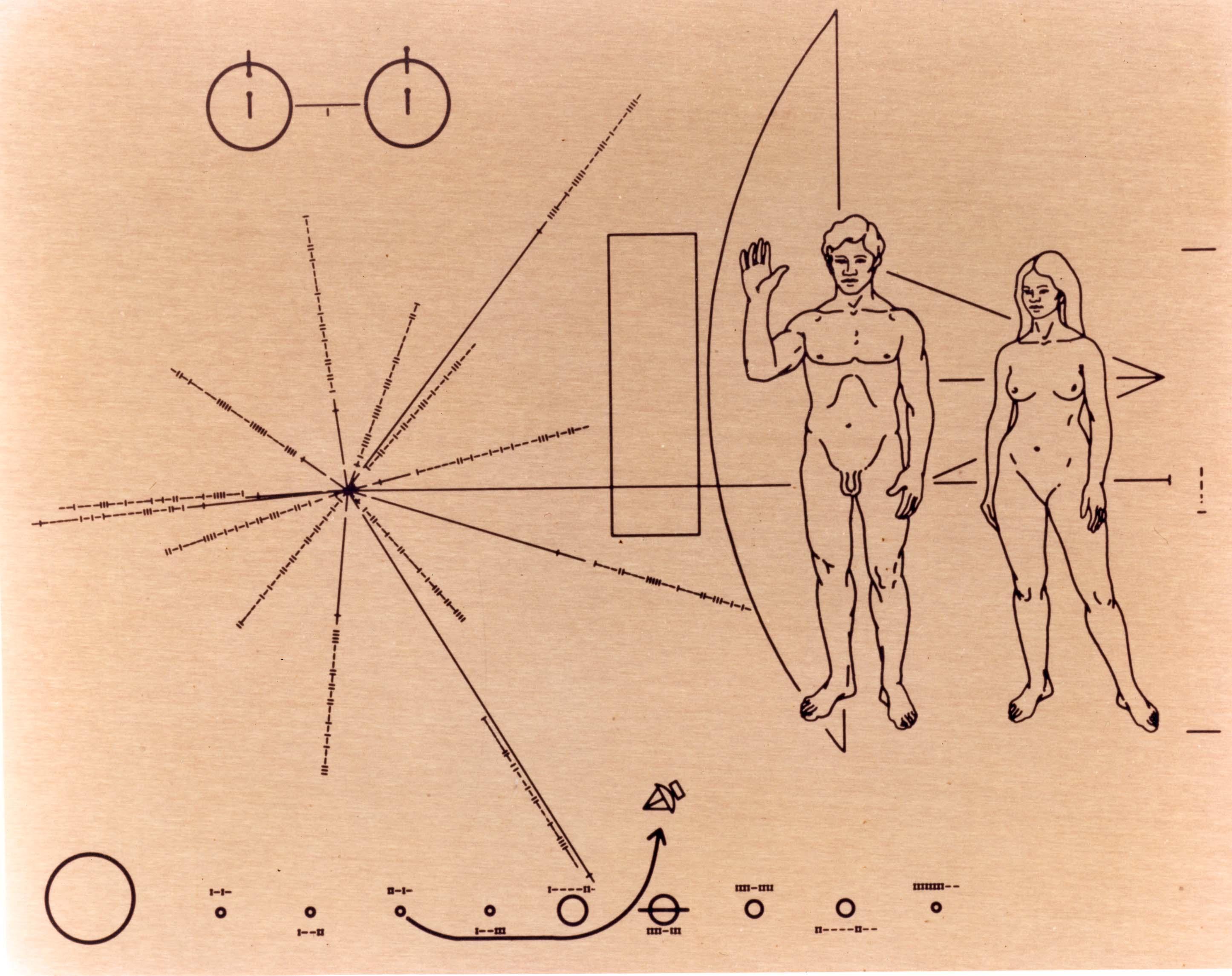 Les dessins dans Pioneer 10
