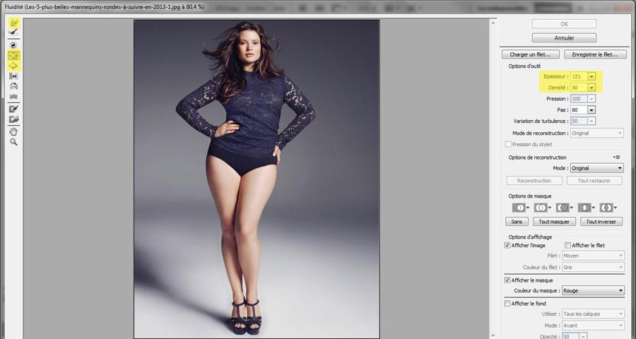 comment maigrir un visage sur photoshop